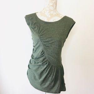 Deletta Anthropologie cap sleeve knit top Medium